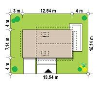 Минимальные размеры участка для проекта Z211 GL