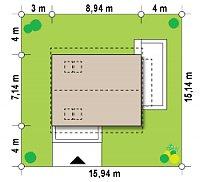 Минимальные размеры участка для проекта Z211