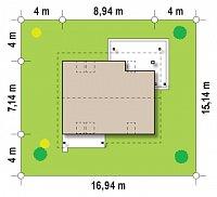 Минимальные размеры участка для проекта Z212