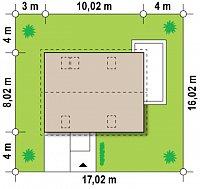 Минимальные размеры участка для проекта Z213