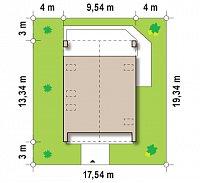 Минимальные размеры участка для проекта Z215