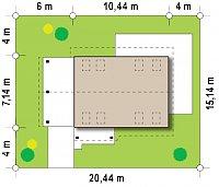 Минимальные размеры участка для проекта Z216 +