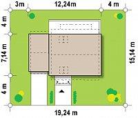 Минимальные размеры участка для проекта Z217