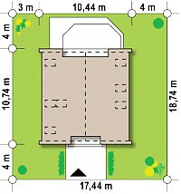 Минимальные размеры участка для проекта Z218