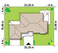 Минимальные размеры участка для проекта Z21