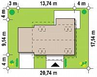 Минимальные размеры участка для проекта Z220
