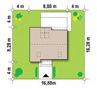 Минимальные размеры участка для проекта Z221
