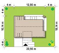 Минимальные размеры участка для проекта Z222
