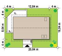 Минимальные размеры участка для проекта Z223
