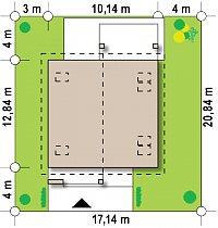 Минимальные размеры участка для проекта Z224