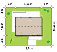 Минимальные размеры участка для проекта Z225 k