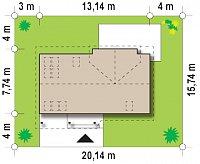 Минимальные размеры участка для проекта Z226