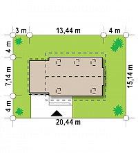 Минимальные размеры участка для проекта Z227