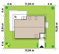 Минимальные размеры участка для проекта Z228