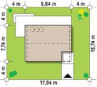 Минимальные размеры участка для проекта Z229