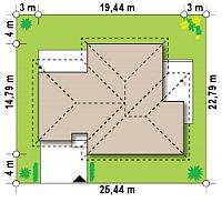 Минимальные размеры участка для проекта Z22