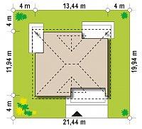 Минимальные размеры участка для проекта Z230