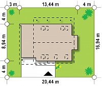 Минимальные размеры участка для проекта Z231