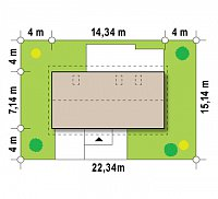 Минимальные размеры участка для проекта Z232
