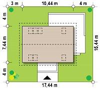 Минимальные размеры участка для проекта Z233