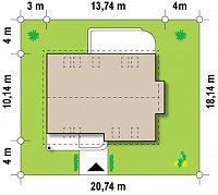 Минимальные размеры участка для проекта Z234
