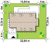 Минимальные размеры участка для проекта Z235