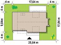 Минимальные размеры участка для проекта Z236 GL2