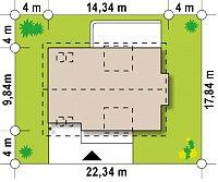 Минимальные размеры участка для проекта Z236