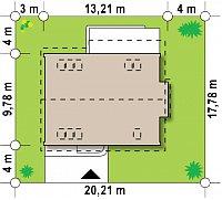 Минимальные размеры участка для проекта Z237