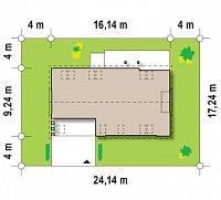 Минимальные размеры участка для проекта Z238