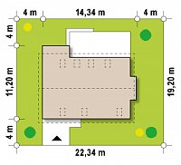 Минимальные размеры участка для проекта Z239