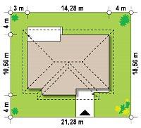 Минимальные размеры участка для проекта Z23