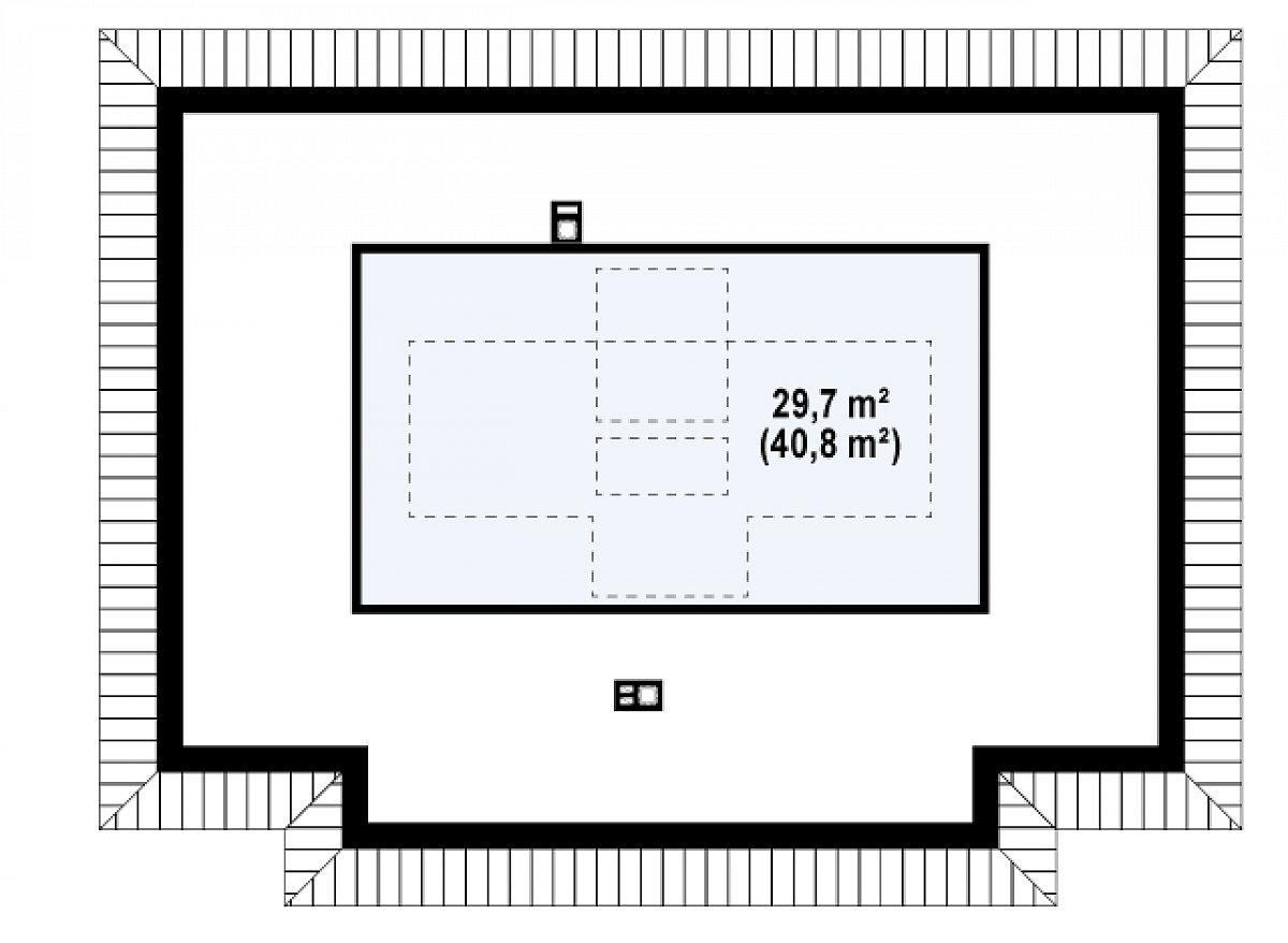 Второй этаж 29,8(40,8м²) дома Z23