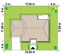 Минимальные размеры участка для проекта Z24 GL