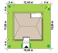 Минимальные размеры участка для проекта Z24 k