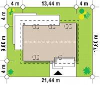Минимальные размеры участка для проекта Z240