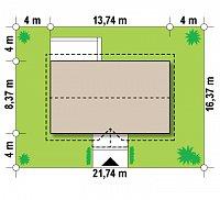 Минимальные размеры участка для проекта Z241