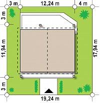 Минимальные размеры участка для проекта Z242