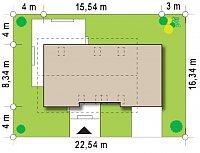 Минимальные размеры участка для проекта Z244 GP