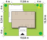 Минимальные размеры участка для проекта Z244