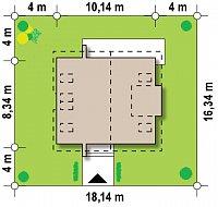 Минимальные размеры участка для проекта Z245