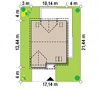 Минимальные размеры участка для проекта Z246