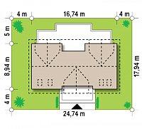 Минимальные размеры участка для проекта Z247