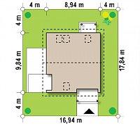 Минимальные размеры участка для проекта Z248