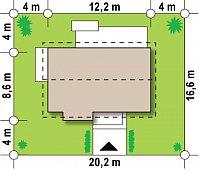 Минимальные размеры участка для проекта Z249