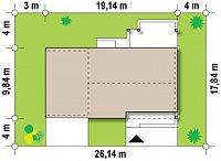 Минимальные размеры участка для проекта Z251 GL2