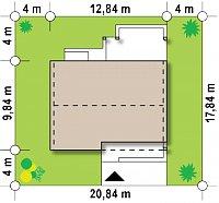 Минимальные размеры участка для проекта Z251