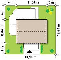 Минимальные размеры участка для проекта Z252