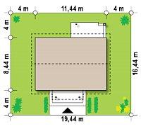 Минимальные размеры участка для проекта Z253