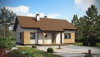 Дизайн проект дома в классическом стиле Z253